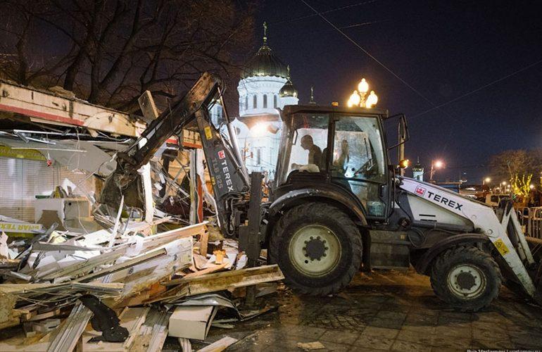 Mosca e la notte delle ruspe