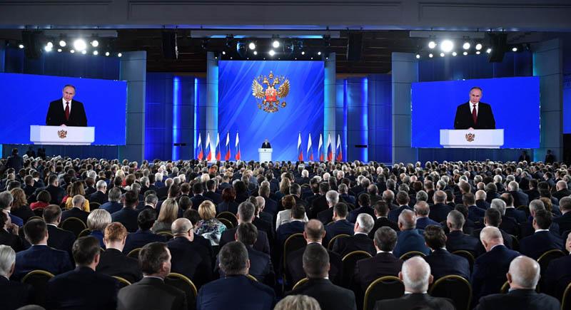 intervento del presidente Putin alle Camere riunite