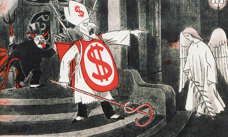 Vignetta satirica antireligiosa cecoslovacca